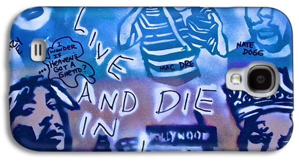 First Amendment Paintings Galaxy S4 Cases - 2 Live n Die n LA Galaxy S4 Case by Tony B Conscious