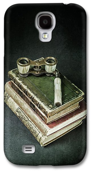 Ancient Galaxy S4 Cases - Lorgnette With Books Galaxy S4 Case by Joana Kruse