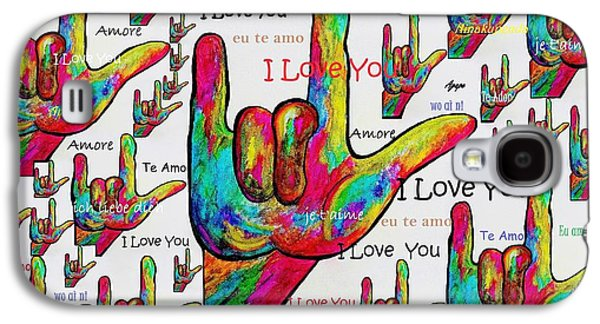 Portuguese Mixed Media Galaxy S4 Cases - Love In Any Language Galaxy S4 Case by Eloise Schneider
