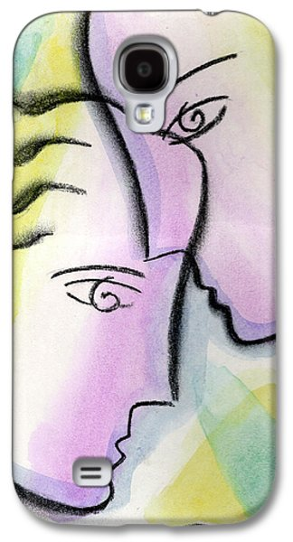 Women Together Paintings Galaxy S4 Cases - Love Galaxy S4 Case by Leon Zernitsky