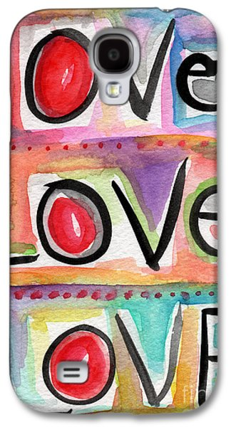 Words Galaxy S4 Cases - Love Galaxy S4 Case by Linda Woods