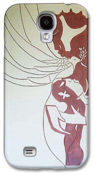 Nativity Ceramics Galaxy S4 Cases - Madonna and Child Galaxy S4 Case by Gloria Ssali