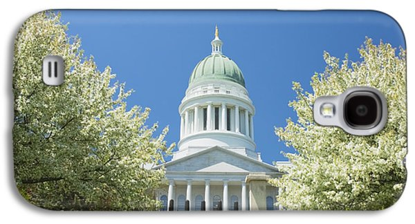 Maine Photographs Galaxy S4 Cases - Maine State Capitol Building In Augusta Galaxy S4 Case by Keith Webber Jr