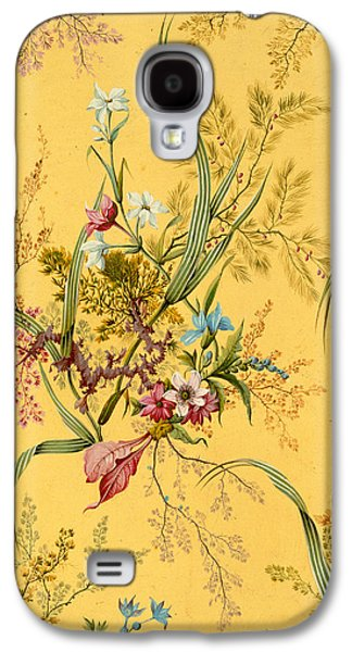 Leaf Drawings Galaxy S4 Cases - Marble end paper  Galaxy S4 Case by William Kilburn