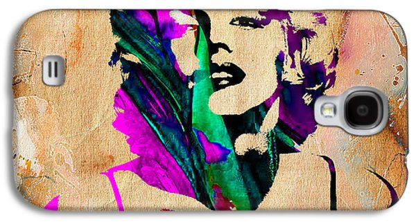 Marilyn Monroe Painting Galaxy S4 Case by Marvin Blaine