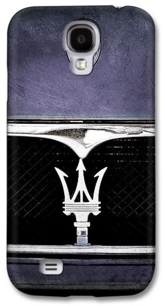 Transportation Photographs Galaxy S4 Cases - Maserati Hood - Grille Emblems Galaxy S4 Case by Jill Reger
