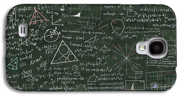 Theory Galaxy S4 Cases - Maths Formula On Chalkboard Galaxy S4 Case by Setsiri Silapasuwanchai