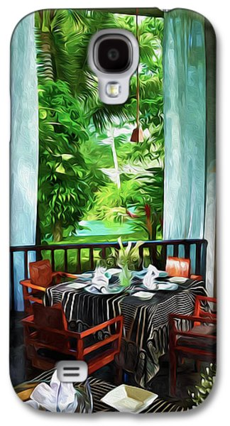 Empty Chairs Paintings Galaxy S4 Cases - Maya Sari Mas Galaxy S4 Case by Lanjee Chee