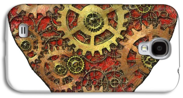 Mechanism Mixed Media Galaxy S4 Cases - Mechanical Heart Galaxy S4 Case by Michal Boubin