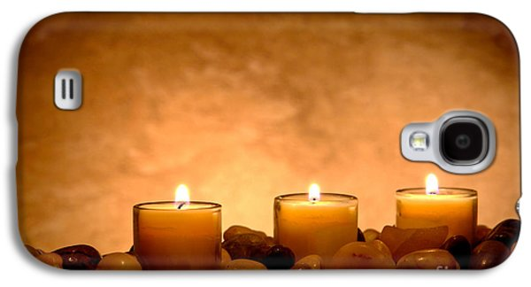 Religious Galaxy S4 Cases - Meditation Candles Galaxy S4 Case by Olivier Le Queinec
