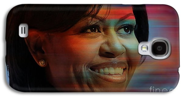 Obama Galaxy S4 Cases - Michelle Obama Galaxy S4 Case by Marvin Blaine