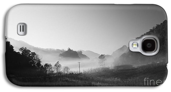 Park Scene Galaxy S4 Cases - Mist In The Valley Galaxy S4 Case by Setsiri Silapasuwanchai