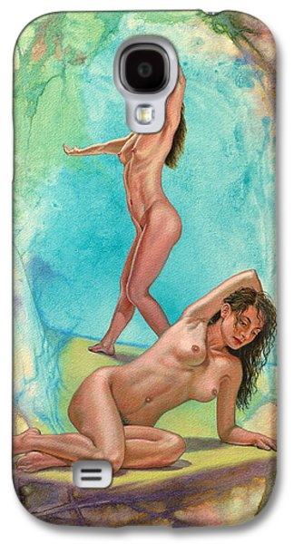 Figures Paintings Galaxy S4 Cases - 2 Models in Abstract Galaxy S4 Case by Paul Krapf