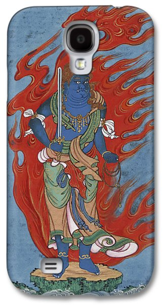 Religious Drawings Galaxy S4 Cases - Mythological Buddhist or Hindu figure Circa 1878 Galaxy S4 Case by Aged Pixel