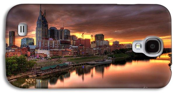 Nashville Tn Skyline  Galaxy S4 Case by Jeremy Holmes