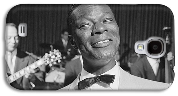 African-american Galaxy S4 Cases - Nat King Cole 1954 Galaxy S4 Case by The Phillip Harrington Collection