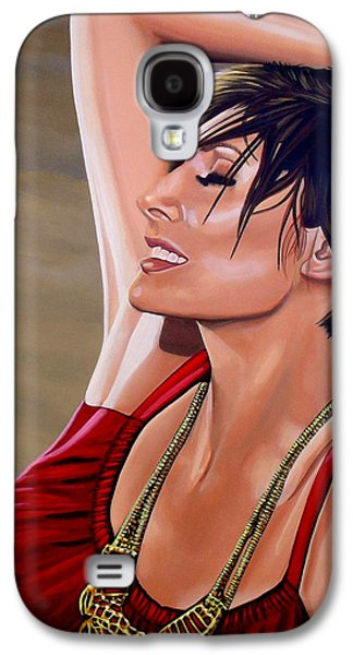 Natalie Imbruglia Painting Galaxy S4 Case by Paul Meijering