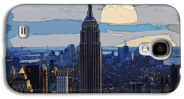 Us Capital Mixed Media Galaxy S4 Cases - New York City Galaxy S4 Case by Celestial Images