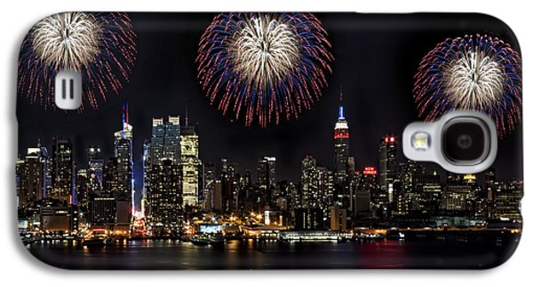 4th July Galaxy S4 Cases - New York City Celebrates the 4th Galaxy S4 Case by Susan Candelario