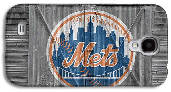 Foul Ball Galaxy S4 Cases - New York Mets Galaxy S4 Case by Joe Hamilton