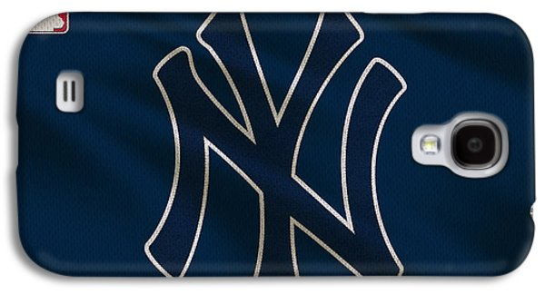 Baseball Uniform Galaxy S4 Cases - New York Yankees Uniform Galaxy S4 Case by Joe Hamilton