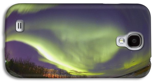 Nature Abstracts Galaxy S4 Cases - Northern Lights, Edmonton, Alberta Galaxy S4 Case by Carson Ganci