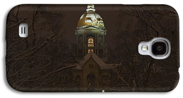 Religious Galaxy S4 Cases - Notre Dame Golden Dome Snow Galaxy S4 Case by John Stephens