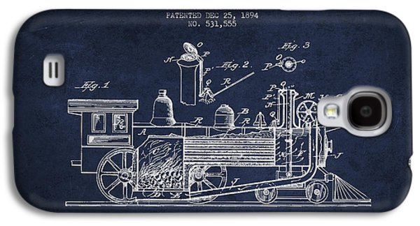 Rail Digital Galaxy S4 Cases - ocomotive Patent drawing from 1894 Galaxy S4 Case by Aged Pixel