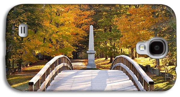 Old North Bridge Concord Galaxy S4 Case by Brian Jannsen