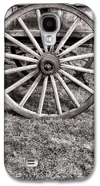 Historic Schooner Galaxy S4 Cases - Old Wagon Wheel on Cart Galaxy S4 Case by Olivier Le Queinec