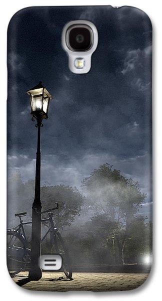 Creepy Digital Galaxy S4 Cases - Ominous Avenue Galaxy S4 Case by Cynthia Decker