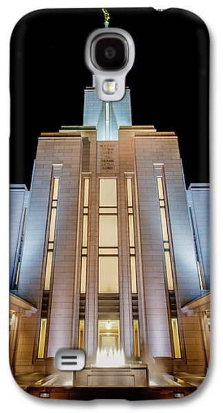 The Hills Galaxy S4 Cases - Oquirrh Mountain Temple 1 Galaxy S4 Case by Chad Dutson