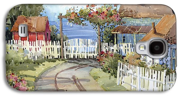Shed Paintings Galaxy S4 Cases - Pacific Out Back Galaxy S4 Case by Joyce Hicks