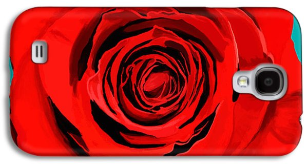 Torn Galaxy S4 Cases - Painting Of Single Rose Galaxy S4 Case by Setsiri Silapasuwanchai