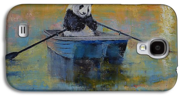 Rowboat Galaxy S4 Cases - Panda Reflections Galaxy S4 Case by Michael Creese