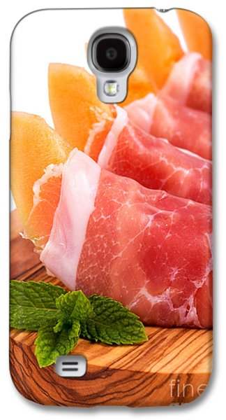 Platter Photographs Galaxy S4 Cases - Parma ham and melon Galaxy S4 Case by Jane Rix