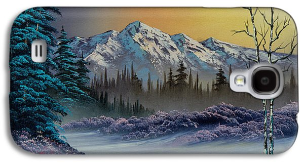Recently Sold -  - Bob Ross Paintings Galaxy S4 Cases - Frosty Enchantment Galaxy S4 Case by C Steele