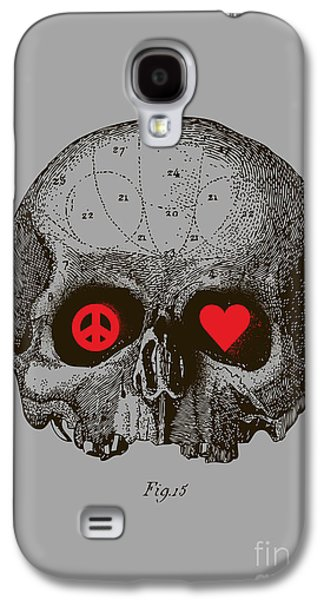 Death Galaxy S4 Cases - Peace and Love Galaxy S4 Case by Budi Satria Kwan