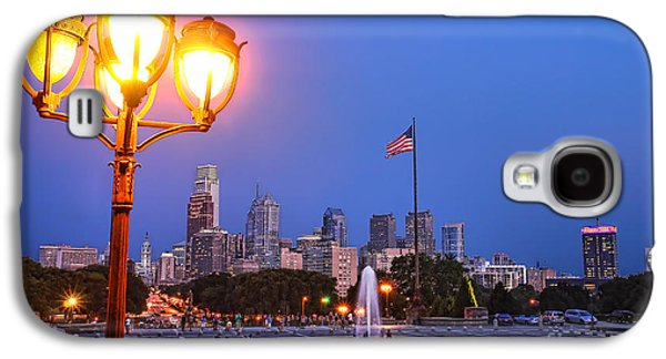 Downtown Franklin Galaxy S4 Cases - Philadelphia at Dusk Galaxy S4 Case by Olivier Le Queinec