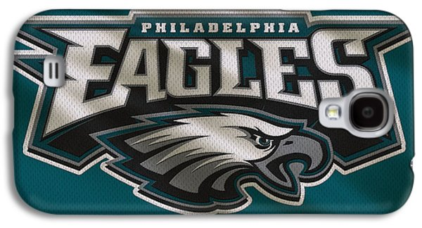 Uniform Galaxy S4 Cases - Philadelphia Eagles Uniform Galaxy S4 Case by Joe Hamilton