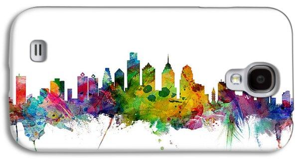 Pennsylvania Galaxy S4 Cases - Philadelphia Pennsylvania Skyline Galaxy S4 Case by Michael Tompsett