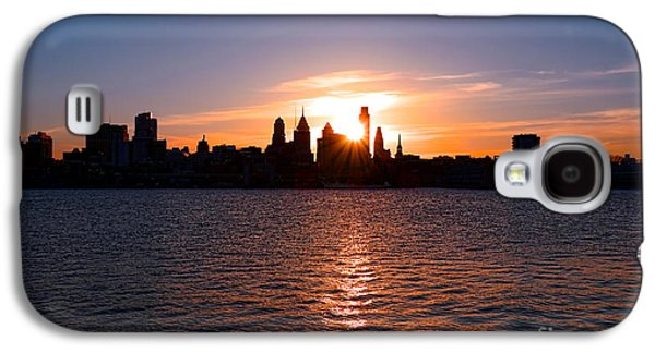 Phila Galaxy S4 Cases - Philadelphia Sunset Galaxy S4 Case by Olivier Le Queinec