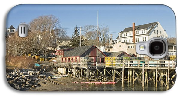 Bouys Galaxy S4 Cases - Pier in Tenants Harbor Maine Galaxy S4 Case by Keith Webber Jr