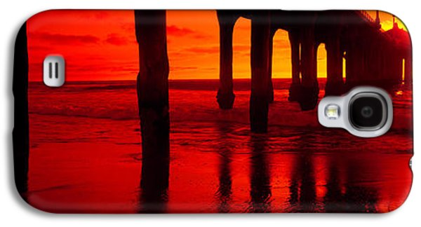 Sun Galaxy S4 Cases - Pier In The Pacific Ocean, Manhattan Galaxy S4 Case by Panoramic Images