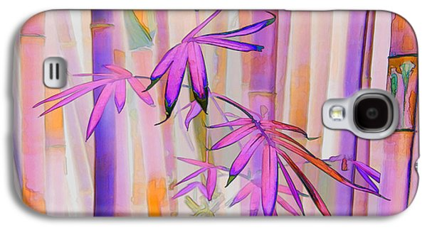 Abstract Landscape Galaxy S4 Cases - Pink Bamboo Forest Galaxy S4 Case by Robin Curtiss