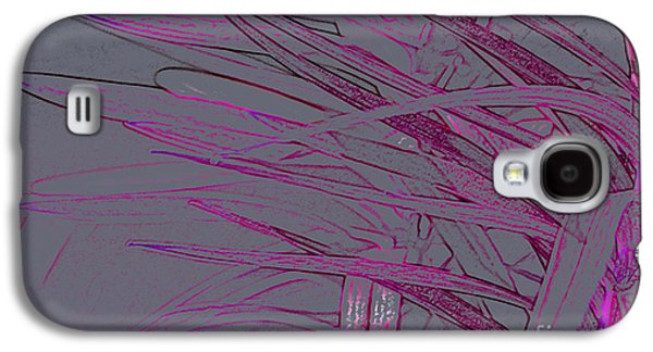 Abstract Forms Galaxy S4 Cases - pink Leaves Galaxy S4 Case by Carol Lynch