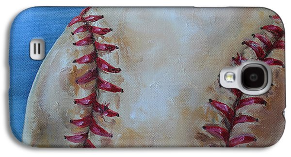 Baseball Stadiums Paintings Galaxy S4 Cases - Play Ball Galaxy S4 Case by Kristine Kainer