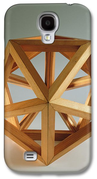 Wooden Sculpture Galaxy S4 Cases - Polyhedron Wood Galaxy S4 Case by Italian School