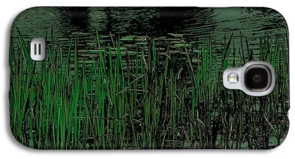 Surreal Landscape Galaxy S4 Cases - Pond Grasses Galaxy S4 Case by David Patterson