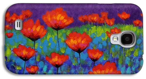 Perspective Paintings Galaxy S4 Cases - Poppy Meadow Galaxy S4 Case by John  Nolan